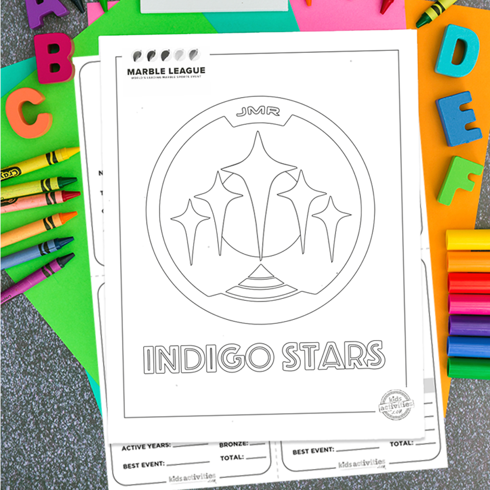 Indigo Stars Marble League Printables