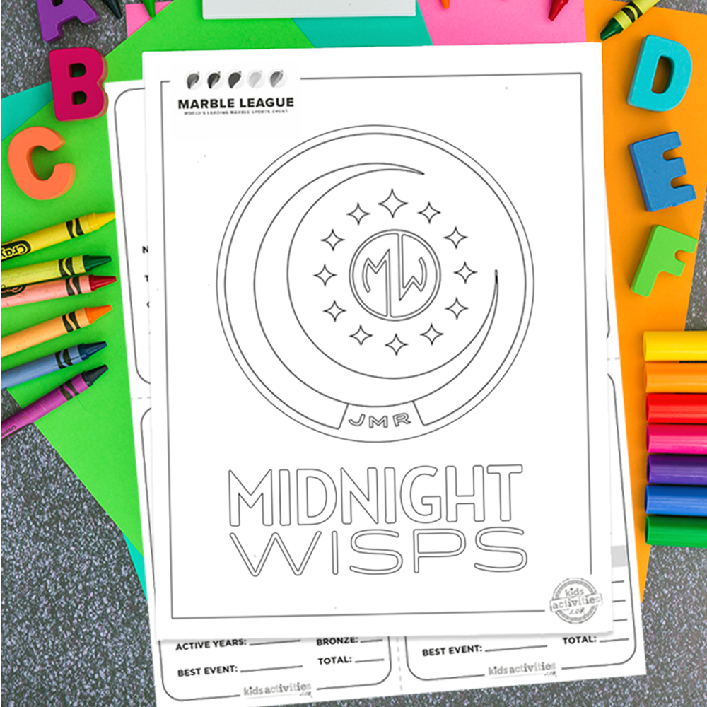 Midnight Wisps Marble League Printables