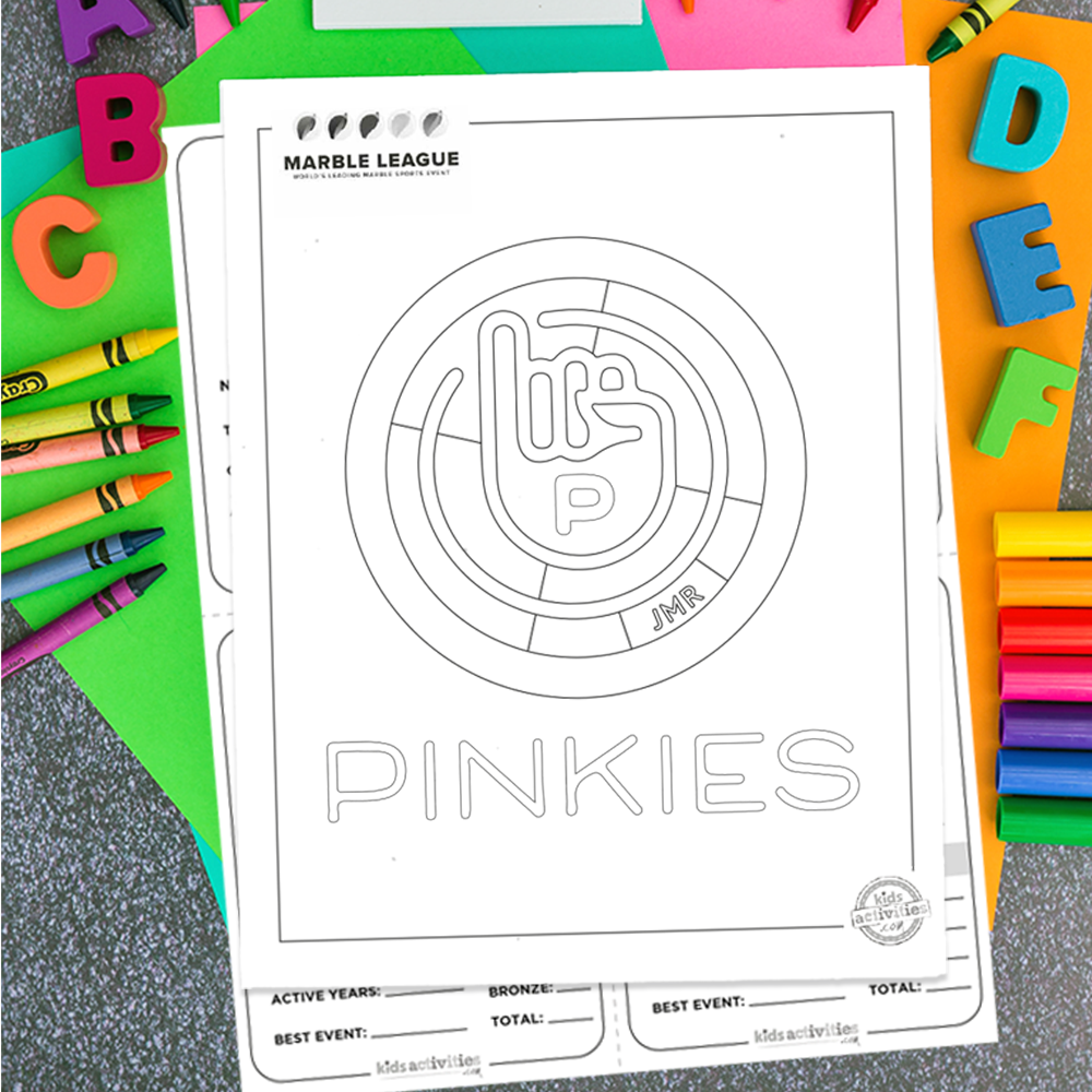 Pinkies Printables 2020 Marble League