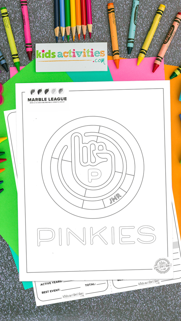Pinkies Marble League Printables