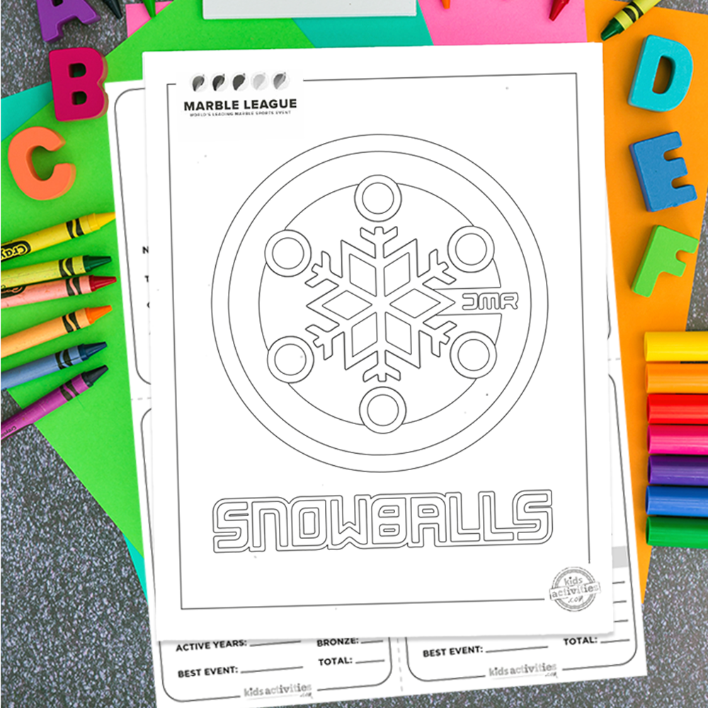 Snowballs Marble League Printables