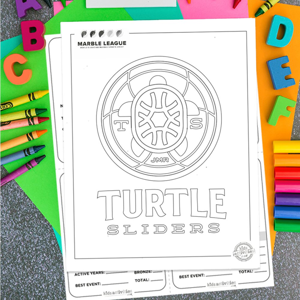 Turtle Sliders 2020 Marble League Printables