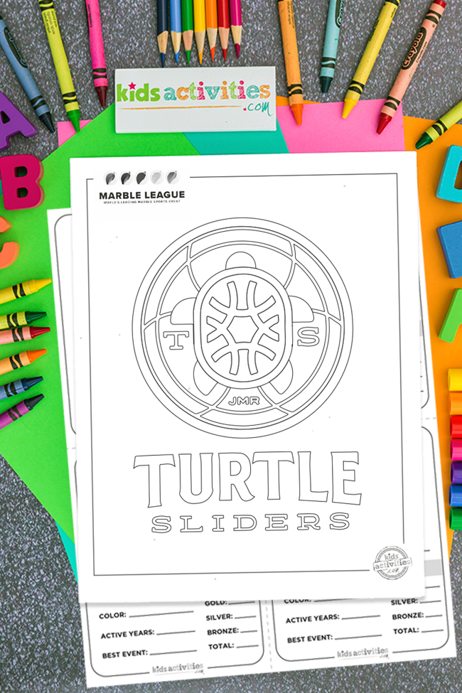marble runs turtle sliders team logo printable