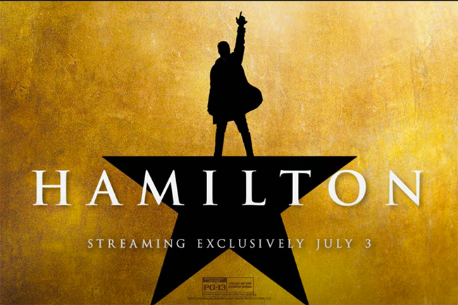 Hamilton original cast recording is coming to Disney+ on July 3