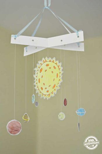 Easy Solar System Model With Printable Template | Kids Activities Blog