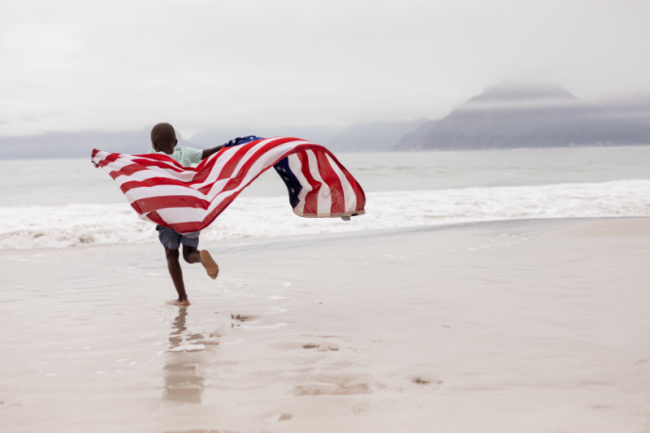 American Flag with child - Kids Activities Blog