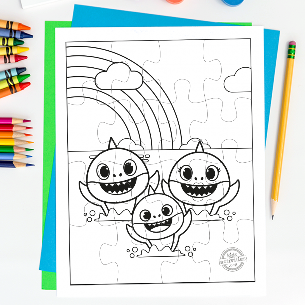 Baby Shark Coloring pages