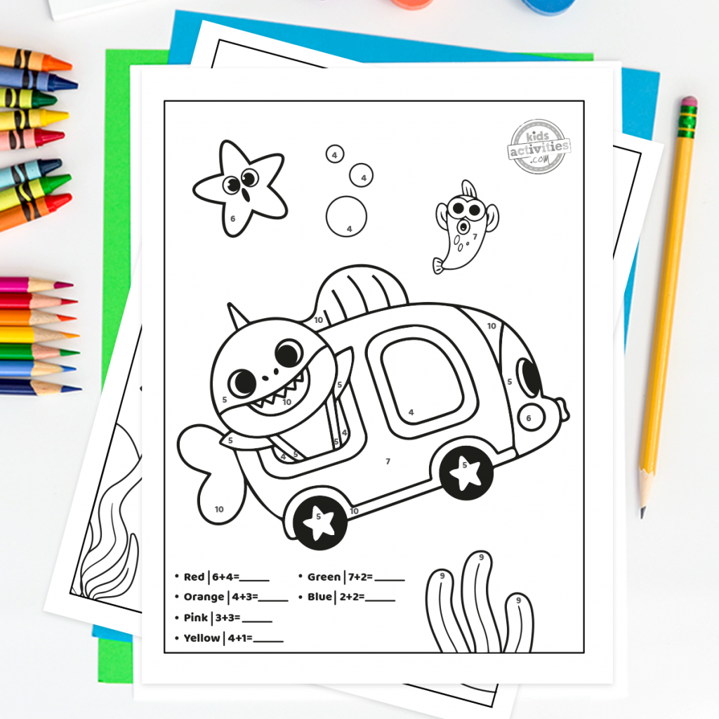 Baby Shark Worksheets Printable