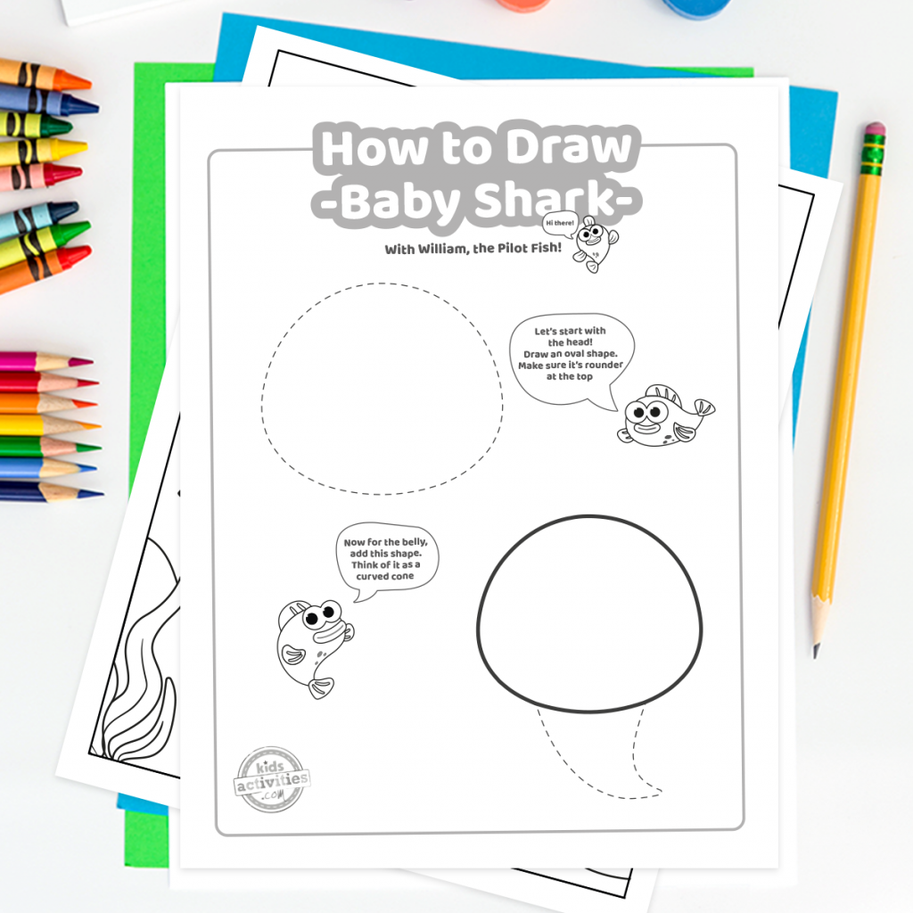 How To Draw Baby Shark Family