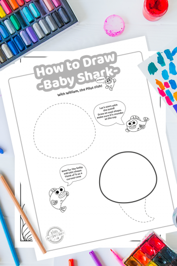 Draw Baby Shark Printable