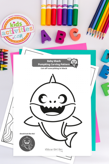 Baby Shark Pumpkin Carving Printable