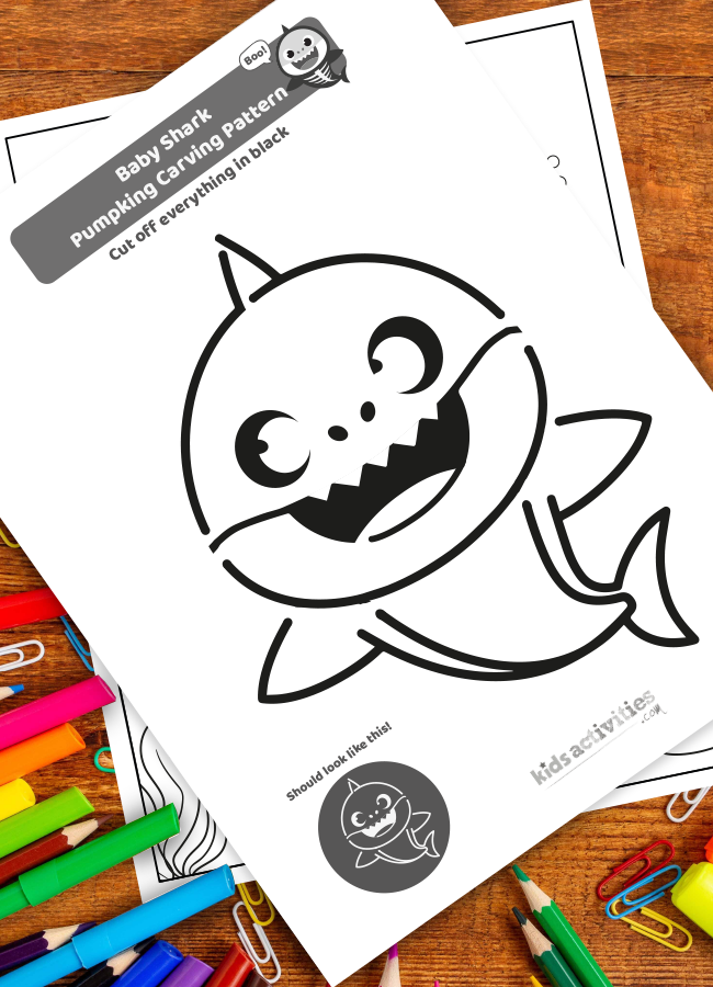 Baby Shark Halloween Printable