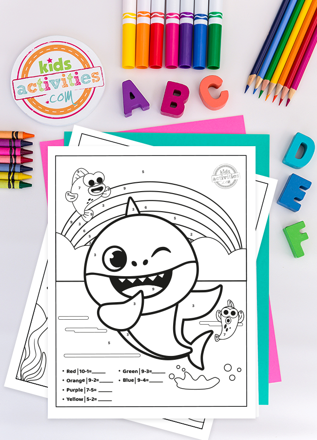 Baby Shark Math Printable