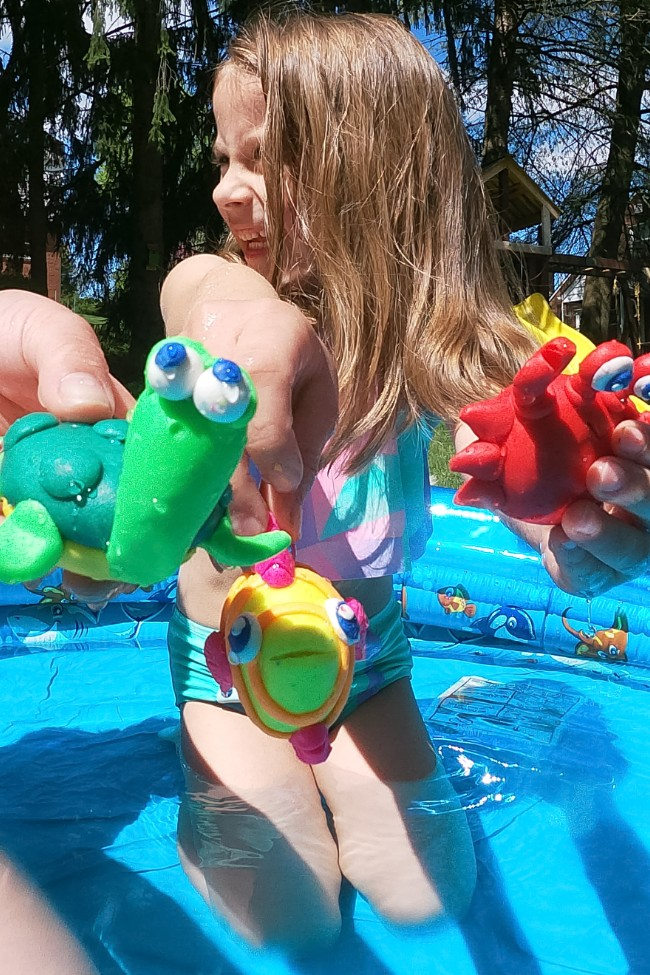 This Floating Clay Is The Perfect Sensory Toy For Kids To Play With in the Pool