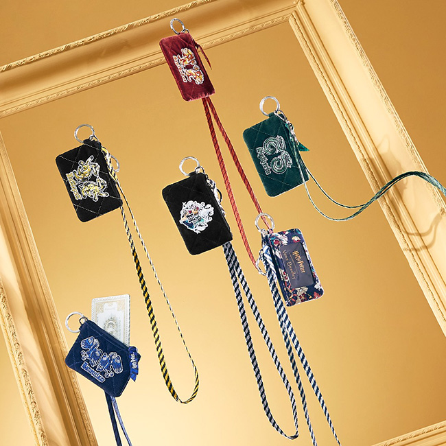 Harry Potter lanyards and ID badges in house colors