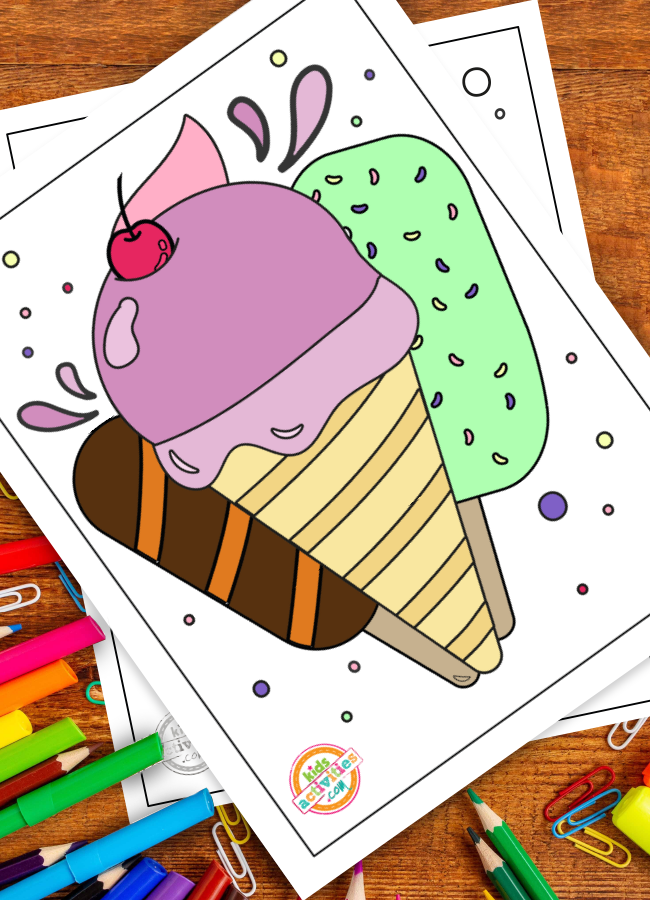 Summer Coloring Page July 2020