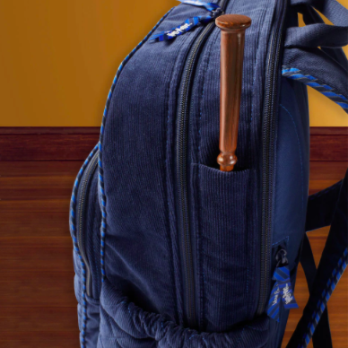 Harry Potter Backpack featuring a wand pocket for wizards and muggles that are Hogwarts fans