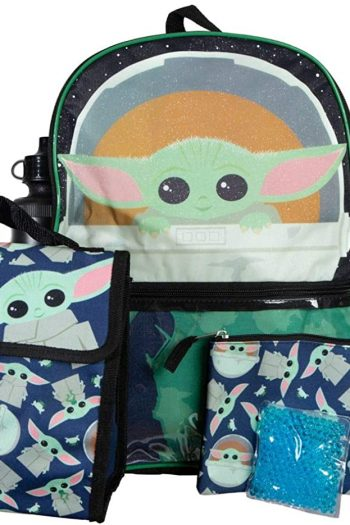 The Mandalorian Baby Yoda Backpack and Lunch Box Set