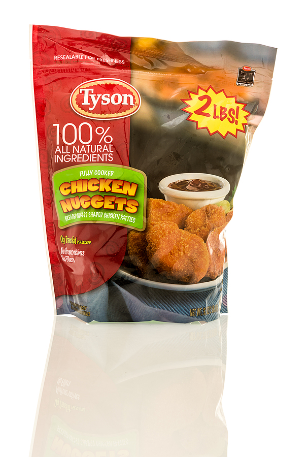 Tyson chicken nuggets are a great substitute for the chicken nuggets in a happy meal.