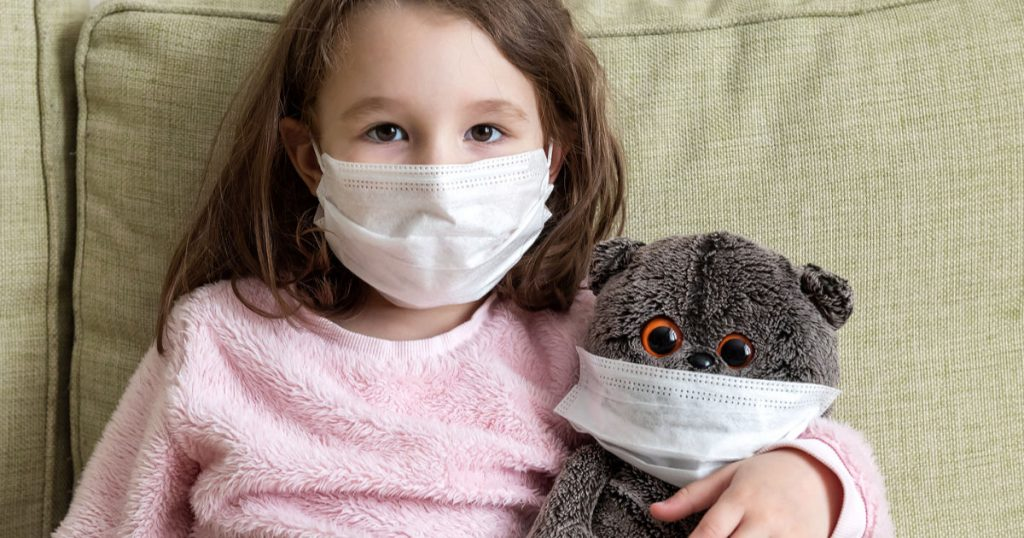 face masks for kids and teddy bears