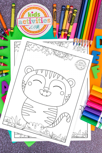 Download These Adorable Free Baby Tiger Coloring Pages