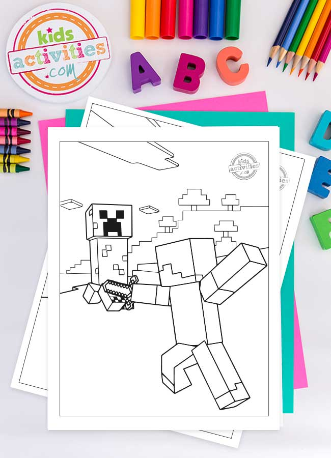 - Fun And Adventurous Free Minecraft Coloring Pages For Kids