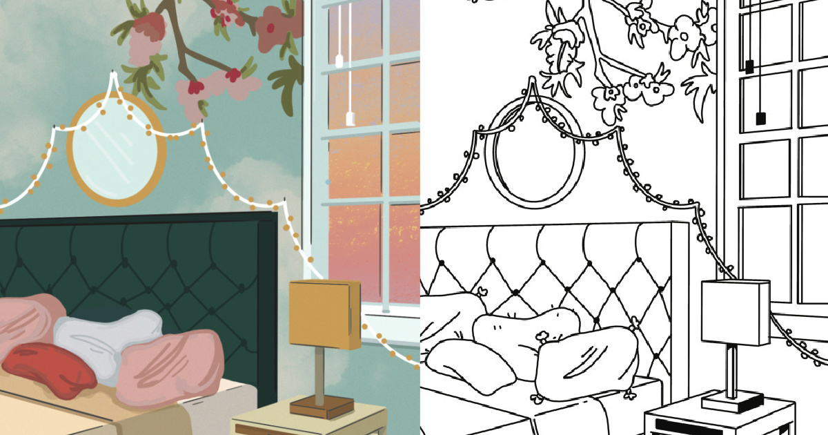 - 8 Free Adult Coloring Pages Inspired From Modern Interior Design
