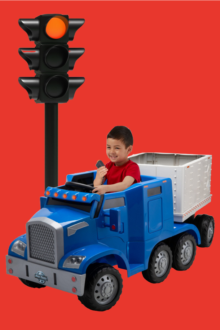 You Can Get A Battery Operated Semi-Truck For Your Child That Actually Hauls Things Around