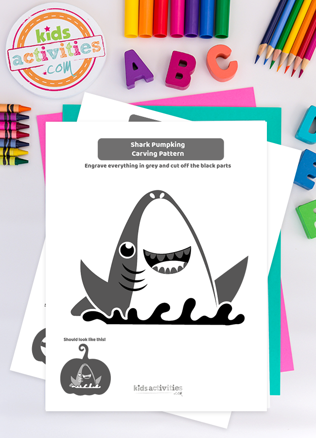 Celebrate Halloween With This Shark Pumpkin Carving Stencil