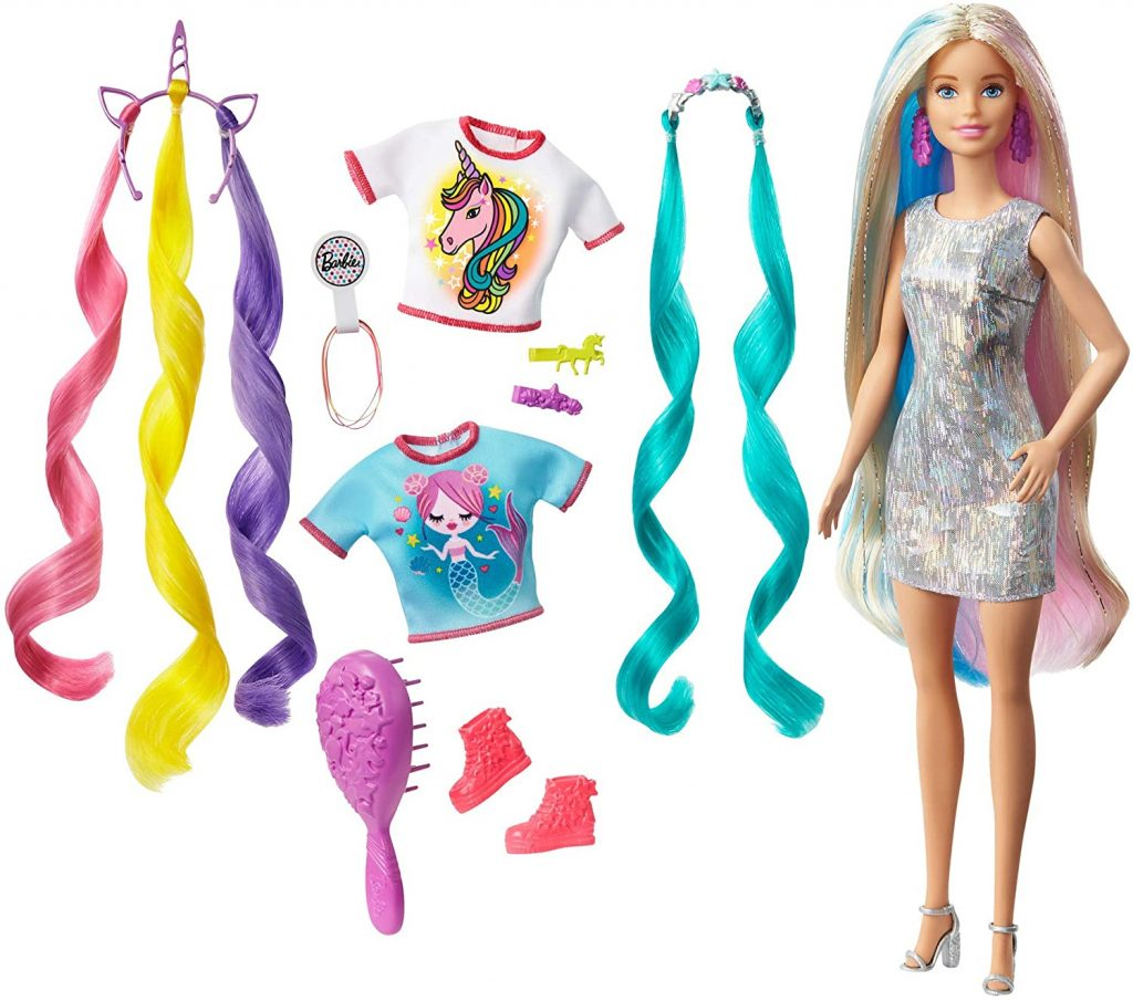 Barbie Fantasy Hair Doll and Accessories