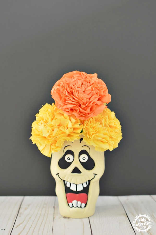 DIY Marigold (Cempazuchitl) For Day Of The Dead Using Tissue Paper