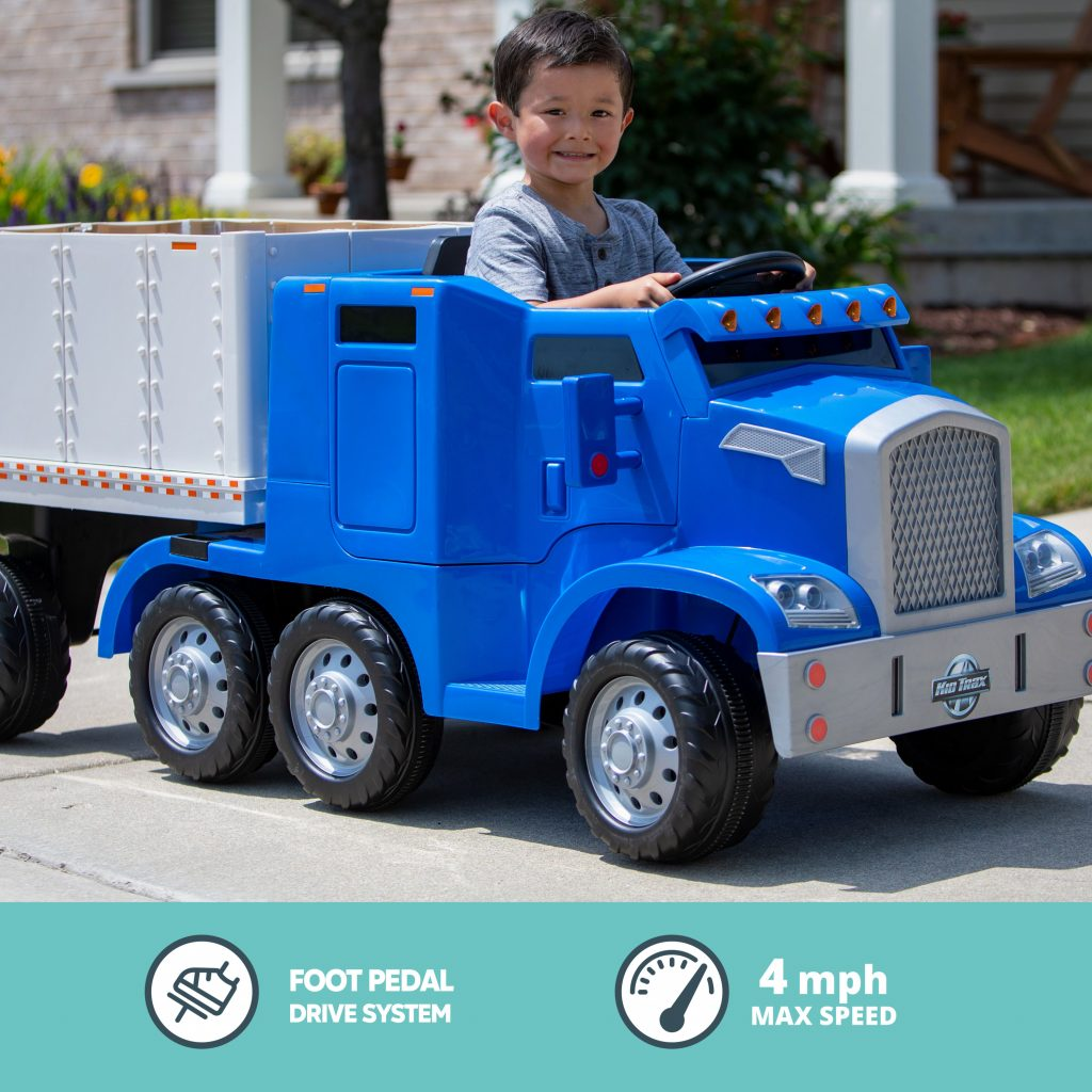 Ride-on Semi-Truck for Kids
