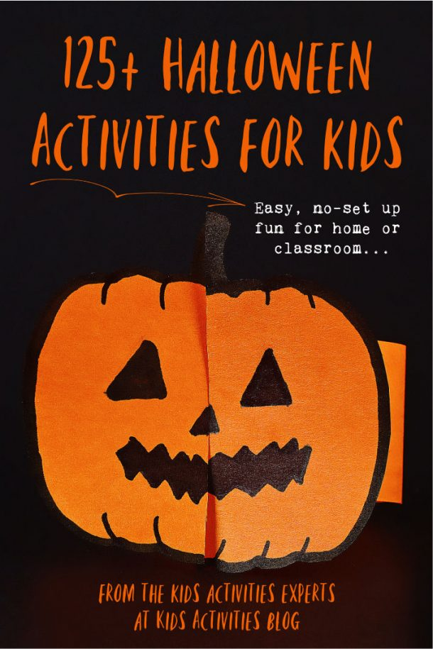 125 Halloween activities for kids - easy no set up