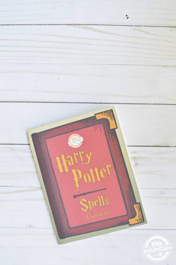 DIY Harry Potter Spell Book Using Free Printable Coloring Pages