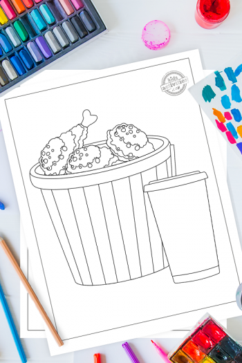 Free Fried Chicken Printable Coloring Pages For Kids
