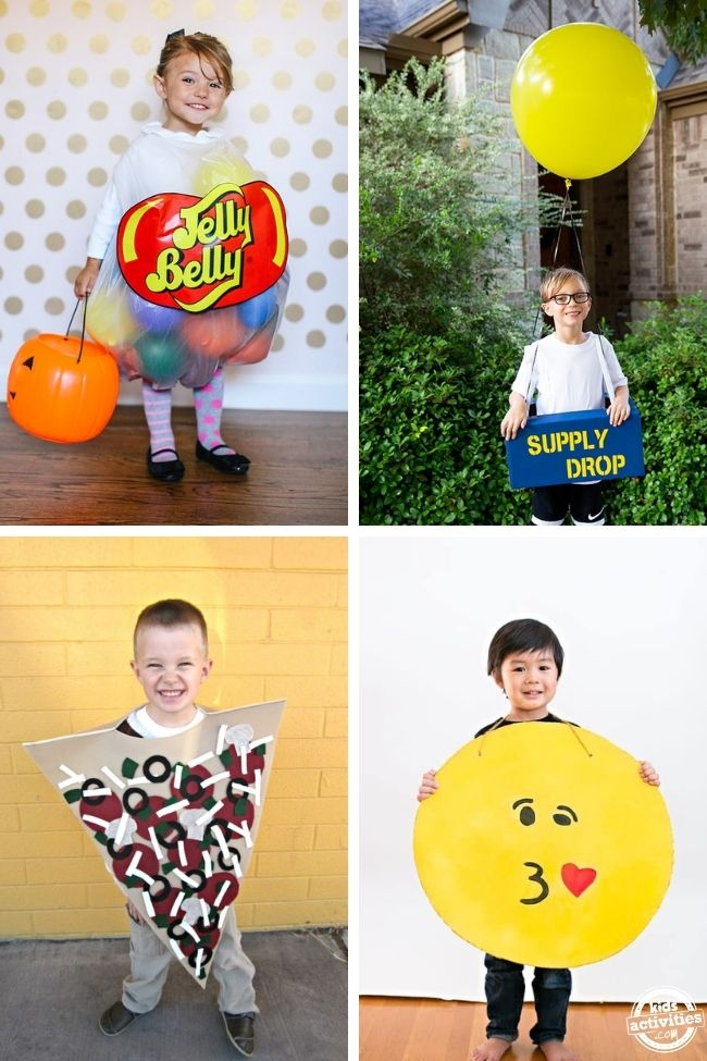 collage of funny costumes ideas for kids