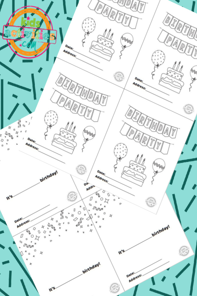 Free Printable Birthday Party Invitations To Color