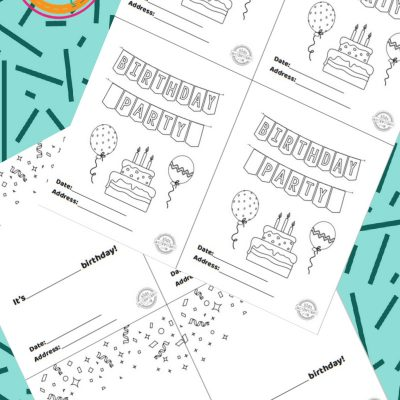 Free Printable Birthday Party Invitations Kids Will Love To Decorate