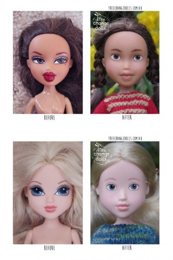 Tree Change Dolls Makeover Pictures - Before and After Feature