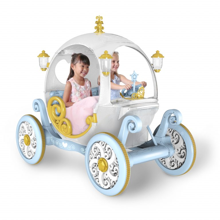 You Can Get A Cinderella Carriage Ride-On For Your Kids That Plays Disney Sounds