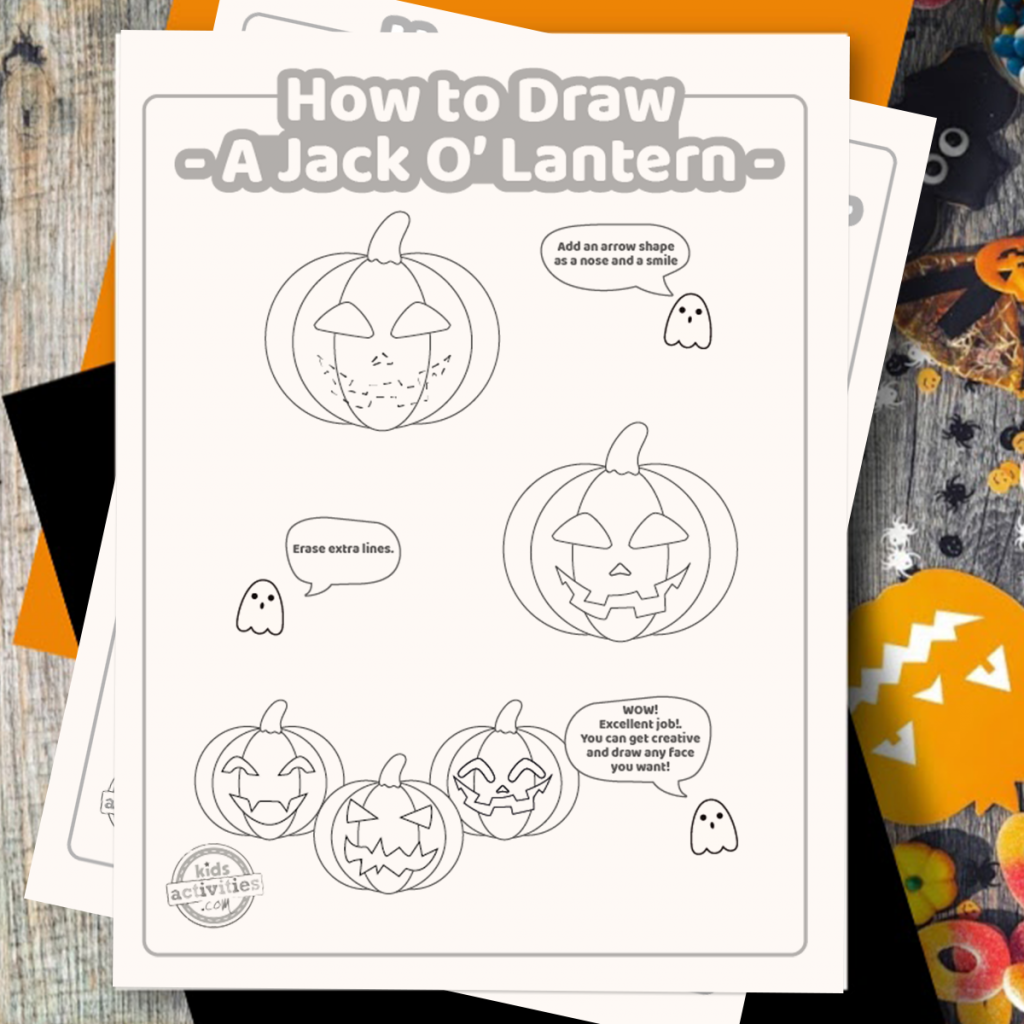 Easy Halloween Drawings Easy Peasy Jack O Lantern Tutorial For Kids