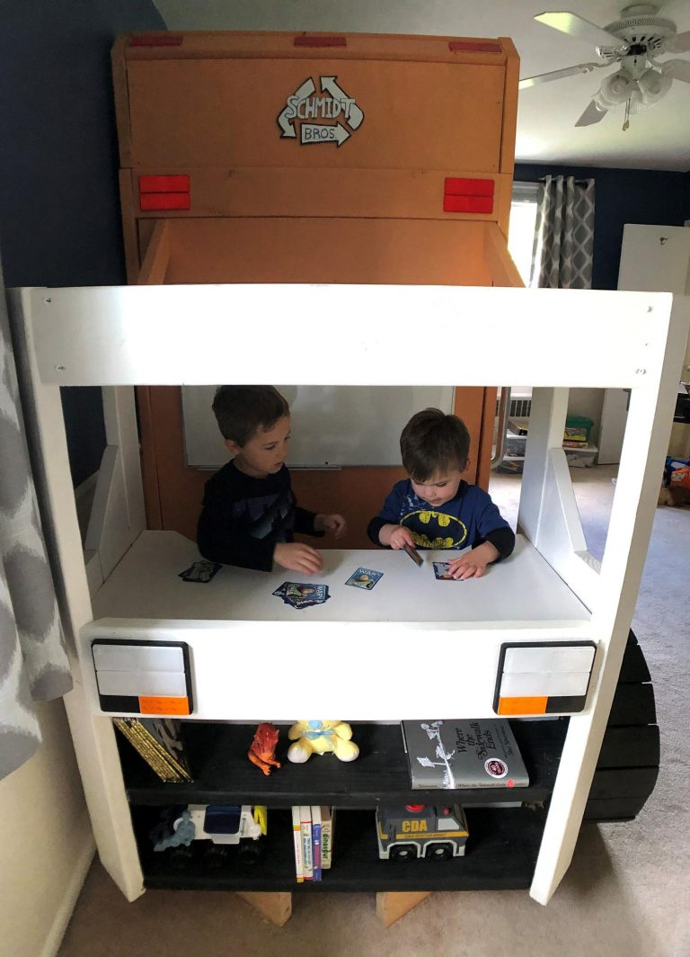 You Can Build A Garbage Truck Bunk Bed For Your Kids. Here's How.
