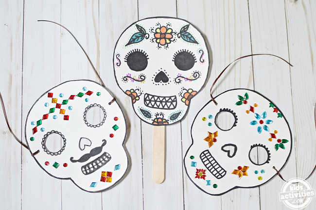 diy day of the dead masks ready to wear for the party