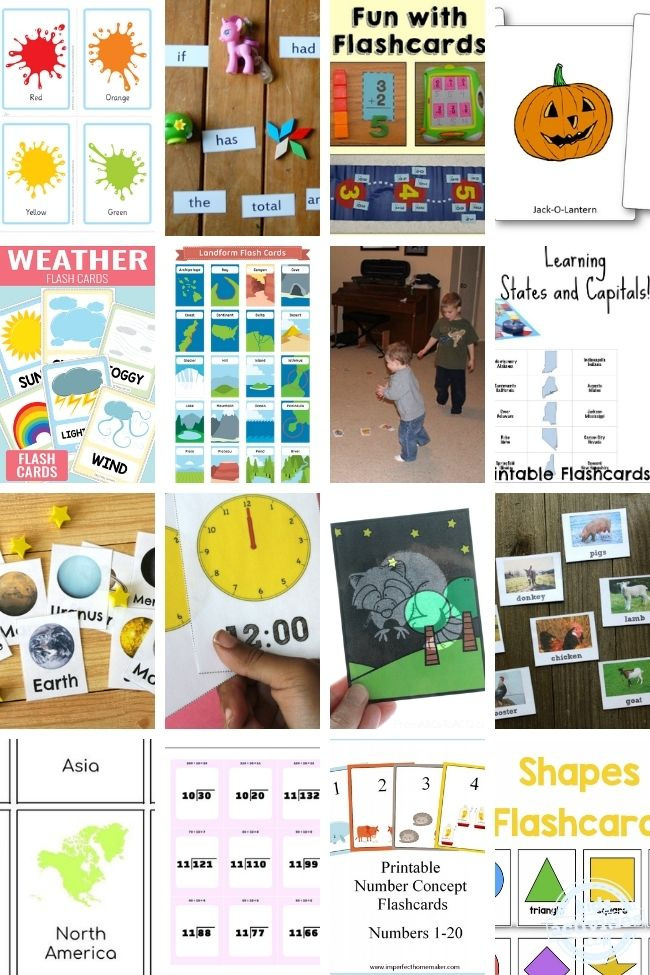 50+ Printable Flashcards & Awesome Ways to Use Them