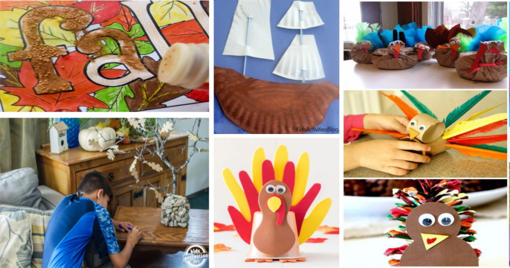 75+ Fun Thanksgiving Crafts  and Activities Kids Will Love!