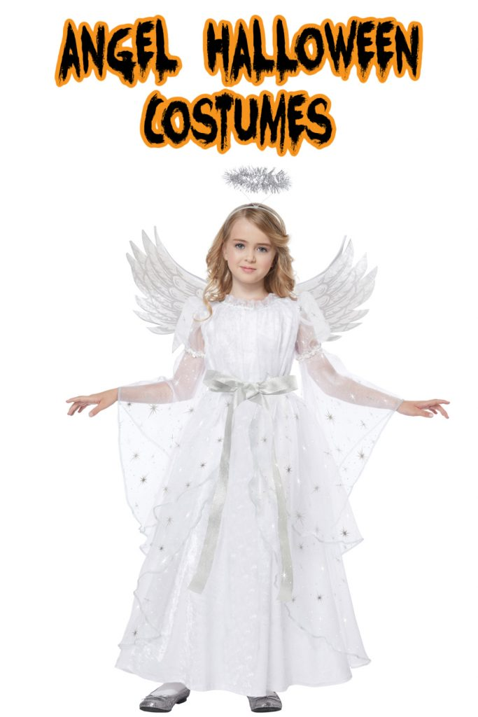 This angel costume is one of the top kids Halloween costumes of 2020!