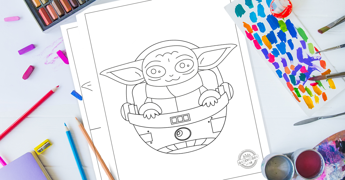The Most Adorable Baby Yoda Coloring Pages For Kids
