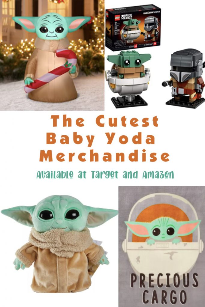 Amazon and Target have the cutest Baby Yoda merchandise that includes everything from t-shirts to plushes and holiday decorations!