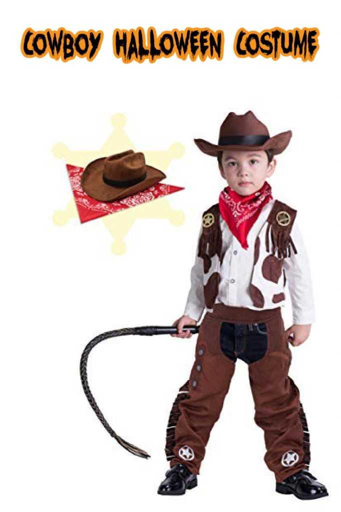 This cowboy costume is one of the top kids Halloween costumes for 2020!
