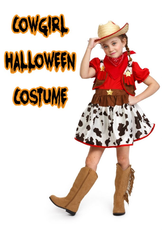This cowgirl costume is one of the top kids Halloween costume for 2020!